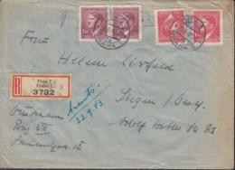 BÖHMEN Und MÄHREN  2x 96, 2x 97 MiF Auf R-Brief, Mit Stempel: Prag 19.IX.1943 - Bohemia & Moravia
