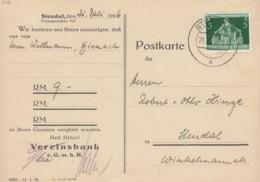 DR 618 EF Auf Postkarte Mit Stempel: Stendal 21.7.1936, Gemeindekongress - Briefe U. Dokumente