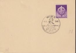 DR 818 Auf PK Mit Sonderstempel: Wien Geor Ritter Von Schönerer 8.10.1942 - Duitsland