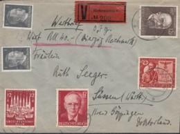DR  2x 781, 856, 862-864 MiF, Auf Wert-Brief Mit Stempel: Hohensalza 16.1.1944 - Briefe U. Dokumente