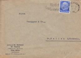 DR  471 EF, Auf Auslands-Brief Mit Stempel: Berlin NW 7XIII II.5.1933 - Duitsland