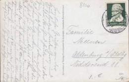 DR  573 EF, Auf AK Mit Stempel: Schneefernerhaus 8.9.1935 - Duitsland