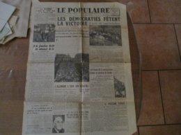 LE POPULAIRE DU MERCREDI 9 MAI 1945 LA GUERRE A PRIS FIN CETTE NUIT A 0 HEURE UNE,L'ACTE DE CAPITULATION - Allgemeine Literatur