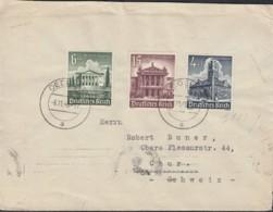 DR  752, 754,757 MiF, Auf Auslands-Brief Mit Stempel: Oederan 6.11.1940, Rückseitig: ZENSUR-Streifen - Allemagne