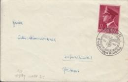 DR  813 EF, Auf Brief Mit Sonderstempel: Berlin Großdt. Reichstag 26.4.1942 - Briefe U. Dokumente
