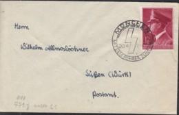 DR  813 EF, Auf Brief Mit Sonderstempel: München ...zum Sieg 20.4.1942 - Briefe U. Dokumente