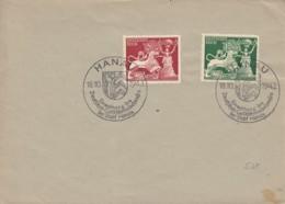 DR  816-817 MeF, Auf Brief Mit Sonderstempel: Hanau Einweihung Goldschmiedehaus 18.10.1942 - Briefe U. Dokumente