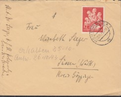 DR  859 EF, Auf Brief Mit Stempel: Hohensalza 22.10.1943 - Duitsland