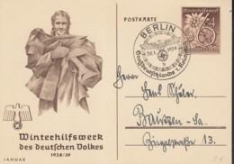 DR  P 274/04, Mit Sonderstempel: Berlin 1. Reichstag Großdeutschland 30.1.1939 - Deutschland