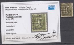 INFLA DR  178,gestempelt,  Geprüft Mit Kurzbefund Tworek - Infla