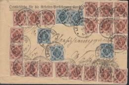 INFLA WÜRTTEMBERG 5x 157, 20x 158 MiF, Geprüft, Auf Brief Mit Stempel: Lorch 15.JAN 1923, Portogerecht -100g - Infla