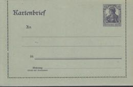 INFLA: DR  K 17, Ungebraucht, Kartenbrief Germania 1917 - Stamped Stationery