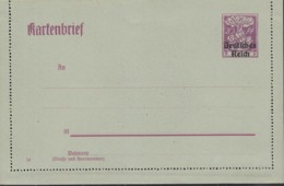 INFLA: DR  K 19, Ungebraucht, Kartenbrief Germania 1920 - Deutschland