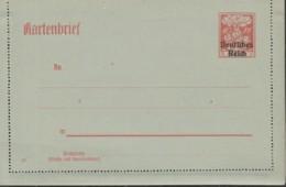 INFLA: DR  K 20, Ungebraucht, Kartenbrief Germania 1920 - Deutschland