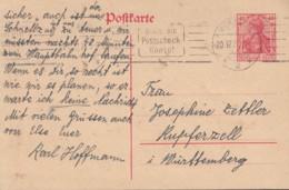INFLA: DR  P 121 B, Mit Gelegenheitsstempel (Filbrandt 2.1b): Würzburg 20.12.1920 - Allemagne