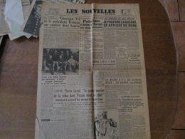 LES NOUVELLES DU MATIN DU 3 AOUT 1945 JOSEPH DARNAND,PIERRE LAVAL,POSTDAM A DONNE A L'EUROPE SON STATUT PROVISOIRE - Allgemeine Literatur