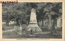 AVANTON MONUMENT AUX MORTS 86 - Unclassified