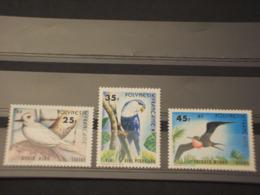 POLYNESIE - 1980 UCCELLI 4 VALORI  - NUOVI(++) - Polinesia Francese
