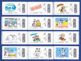 FRANCE ASTERIX 12 étiquettes Autoadhésives Neuves** MonTimbrenligne. Cinéma, Film, Movie. Série1 - 2010-... Vignettes Illustrées