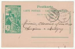 Suisse // Schweiz // Switzerland //  Entier Postaux // Entier Postal  Pour Martigny 17.12.1900 - Entiers Postaux