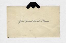 Cartão De Visita JOAO FRANCO CASTELLO BRANCO Ministro De Portugal. Old Visiting Card 1900s - Visiting Cards