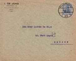GENTBRUGGE OC31 Sur Lettre à Entête I. De Jong /  Postüberwachungsstelle 33/ , 31.6.17 Vers BRUGGE - [OC26/37] Staging Zone