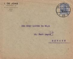 GENTBRUGGE OC31 Sur Lettre à Entête I. De Jong /  Postüberwachungsstelle 33/ , 31.6.17 Vers BRUGGE - Guerra '14-'18