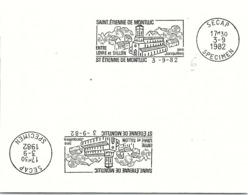 SPECIMEN SECAP - SAINT ETIENNE DE MONTLUC ENTRE LOIRE ET SILLON - 3.9.1982  / 37- 2 - Marcophilie (Lettres)