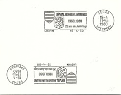 SPECIMEN SECAP - LIEVIN-HOHENLIMBURG 1960-1980 20 ANS DE JUMELAGE - LIEVIN 15.4.1980   / 40 - 2 - Mechanical Postmarks (Advertisement)