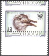 Uruguay 1993, WWF, Ostric, Perforation ERROR - Errori Sui Francobolli