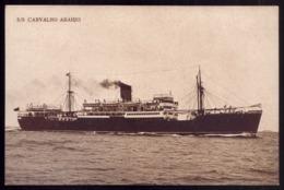 Postal Com Navio / Barco S/S CARVALHO ARAUJO Da Empresa Insulana De Navegação. WARSHIP Ex-Jonquil Sloop Vintage POSTCARD - Guerre