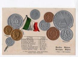 2 - MONNAIE - MEXIQUE - Représentation Des Pièces De Monnaie *en Relief*embossed* - Monete (rappresentazioni)