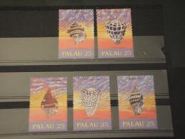 PALAU - 1989 CONCHIGLIE 5 VALORI  - NUOVI(++) - Palau