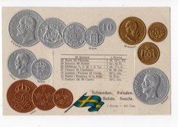 4 - MONNAIE - SUEDE - Représentation Des Pièces De Monnaie   *en Relief*embossed* - Monete (rappresentazioni)