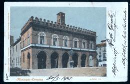 CREMONA 1902- MUNICIPIO - VEDUTA - NON COMUNE - RETRO CON TIMBRO PERSONALIZZATO - Udine