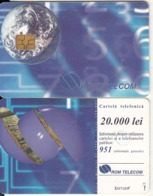 ROMANIA - Earth, Chip GEM3.1, 05/98, Used - Espacio