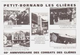 CPSM HAUTE SAVOIE.PETIT BORNAND LES GLIERES.60e ANNIVERSAIRE DES COMBATS DES GLIERES. - Frankrijk