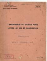 Enseignement Des Signaux Sonores Lecture Au Son Et Manipulation, Code Morse Militaire, De 1970, 36 Pages, état Médiocre - Radio's