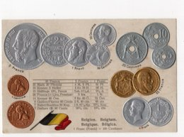 7 - MONNAIE - BELGIQUE - Représentation Des Pièces De Monnaie   *en Relief*embossed* - Monete (rappresentazioni)