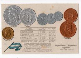 8 - MONNAIE - ARGENTINE- Représentation Des Pièces De Monnaie  *en Relief*embossed* - Monete (rappresentazioni)