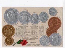 9 - MONNAIE - PORTUGAL - Représentation Des Pièces De Monnaie   *en Relief*embossed* - Monete (rappresentazioni)