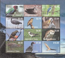 Tonga 1754-1765 ZD-archery (complete Issue) Unmounted Mint / Never Hinged 2012 Clear Brands: Birds - Tonga (1970-...)