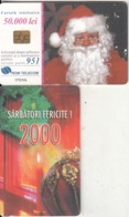 ROMANIA - Christmas 2000, Chip GEM3.3, 12/00, Used - Natale