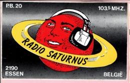 Sticker - RADIO SATURNUS - Postbus 20 Essen - 103,5 MHZ. FM - Aufkleber