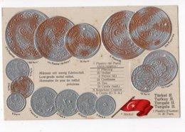 16 - MONNAIE - TURQUIE (2) - Représentation Des Pièces De Monnaie  *en Relief*embossed* - Monete (rappresentazioni)