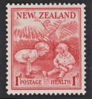New Zealand 1938 Health Stamp 1d + 1d - Children Playing MH - 1907-1947 Dominion