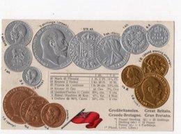 18 - MONNAIE - GREAT BRITAIN - Représentation Des Pièces De Monnaie   *en Relief*embossed* - Monete (rappresentazioni)
