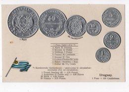 19 - MONNAIE - URUGUAY - Représentation Des Pièces De Monnaie  *en Relief*embossed* - Monete (rappresentazioni)