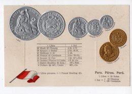 20 - MONNAIE - PEROU - Représentation Des Pièces De Monnaie  *en Relief*embossed* - Monete (rappresentazioni)