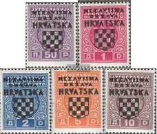 Croazia P1-P5 (completa Edizione) Con Fold 1941 Porto Brand - Kroatië
